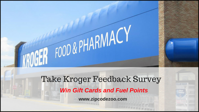 Kroger Feedback Survey Win Gift Cards & Fuel Points